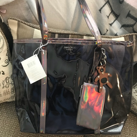 5157c8276ff Jimmy Choo Bags | Authentic Clear Iridescent Tote Clutch | Poshmark